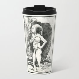 Horned Nude in a Brook Travel Mug