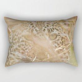 Leopard in the Grass Rectangular Pillow