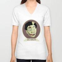 wiz khalifa V-neck T-shirts featuring zombie wiz by Sneaker Pie