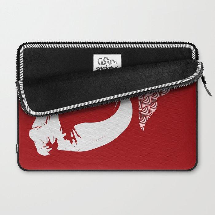 Merman - Red & White - Mermay 2019 Laptop Sleeve