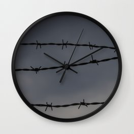 Barb Wire II Wall Clock