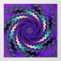 Purple Hurricane Fractal Canvas Print