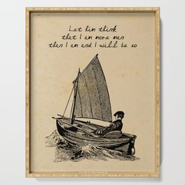 Ernest Hemingway - The Old Man and the Sea Serving Tray