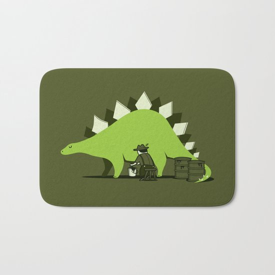 Crude oil comes from dinosaurs Bath Mat