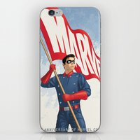 bucky barnes iPhone & iPod Skins featuring Bucky Barnes by Arne AKA Ratscape