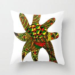 Finger Palm Tree Throw Pillow