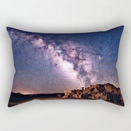 Bisti Badlands Night Sky Rectangular Pillow