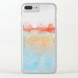 Over Snow Mountain Clear iPhone Case