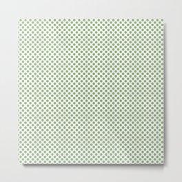 Green Tea Polka Dots Metal Print