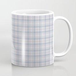 Mauve Blue Grid Checks II Coffee Mug