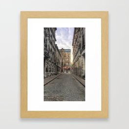 Empty Old Montreal Framed Art Print