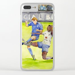 Ledley King tackles Robben Clear iPhone Case