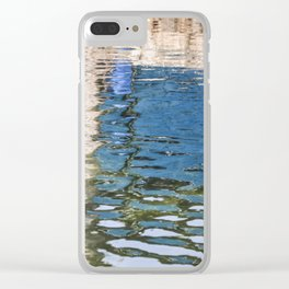 Reflecting Blues Clear iPhone Case