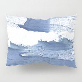 Steel blue blurred watercolor texture Pillow Sham