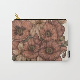 Poppies and Lilies Carry-All Pouch