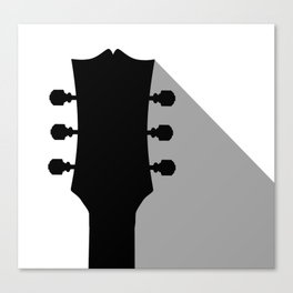 Guitar Headstock With Shadow Canvas Print