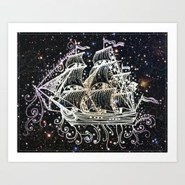 The Great Sky Ship II Art Print