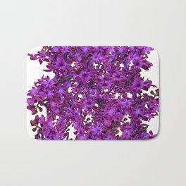 """""""Purple Hyacinth"""" Garden Queen Floras Bath Mat"""