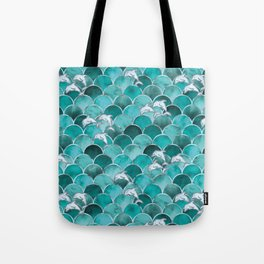 Wave Jumpers (Turquoise) Tote Bag
