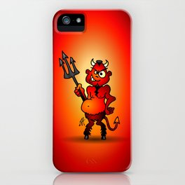 Fat red devil iPhone Case