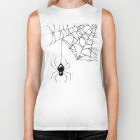 spider Biker Tanks featuring Spider by Chrystal Elizabeth
