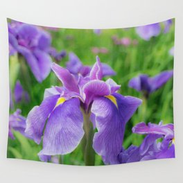 Japanese iris, hanasyobu Wall Tapestry