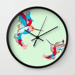 Two Little Hummingbirds Wall Clock