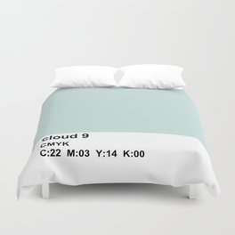 colorblock blue white Duvet Cover