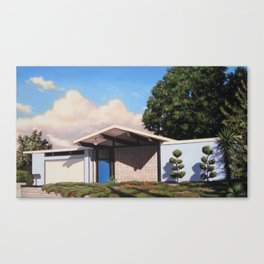 Blue Eichler With Clouds Canvas Print