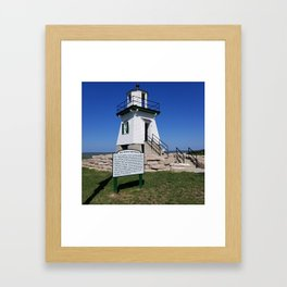 Port Clinton Light Station Framed Art Print