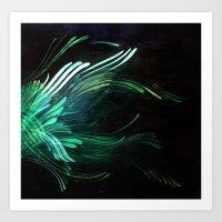 malachite Art Prints featuring Malachite by Lea Gray Design