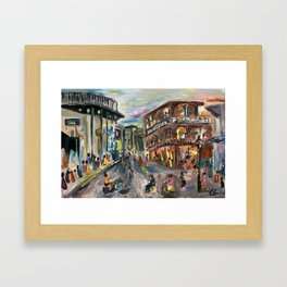 Fifty Cent Oysters Framed Art Print
