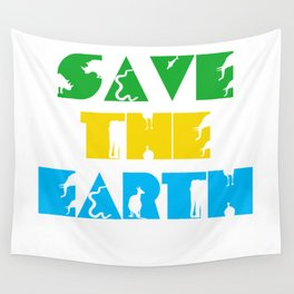 Save The Earth Wall Tapestry