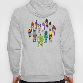 Superhero Butts - Power Couple on Violet Hoody