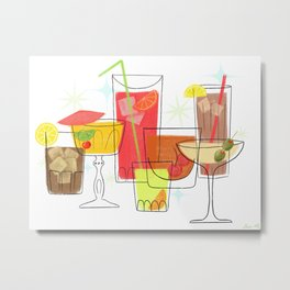 Swanky Summer Coolers Metal Print