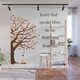 Falling Leaves - Autumn Tree Wall Mural