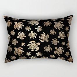 Mint Turtles Rectangular Pillow