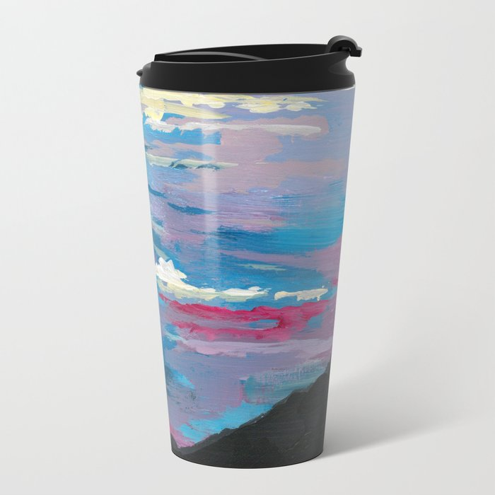 Sunset, Multi-Color Sky Painting Travel Mug