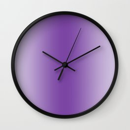 Pastel Violet to Violet Vertical Bilinear Gradient Wall Clock