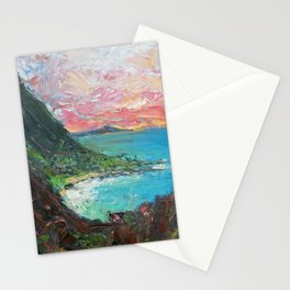 The Pitons, St. Lucia Stationery Cards