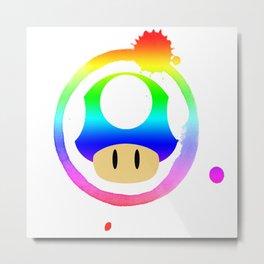 Rainbow Mushroom Metal Print