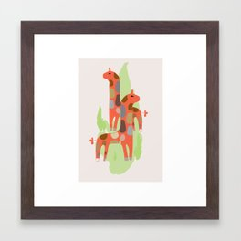 Giraffes kids decor nursery Framed Art Print