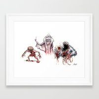 muppets Framed Art Prints featuring Horror Muppets by The Art of Austen Mengler