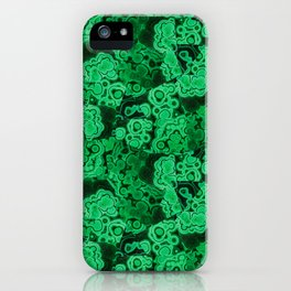 Malachite Puzzle Piece Tiles iPhone Case
