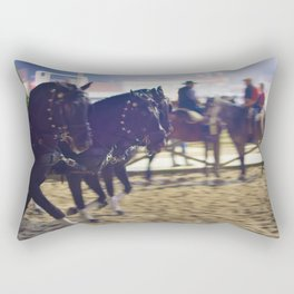 Feira da Golega 2015 3 horses 35 mm Rectangular Pillow