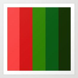 Christmas color chart Art Print