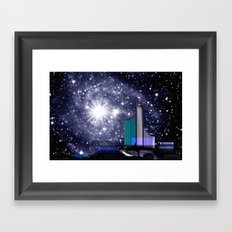 Wonderful starry night. Framed Art Print