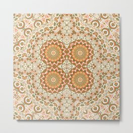 Kashmir Embroidery Inspired Metal Print