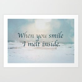 When you smile Art Print