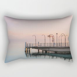 A Suspended Moment In Time Over The Lake Rectangular Pillow